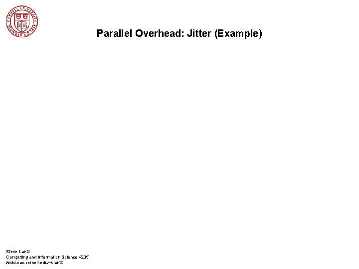 Parallel Overhead: Jitter (Example) Steve Lantz Computing and Information Science 4205 www. cac. cornell.