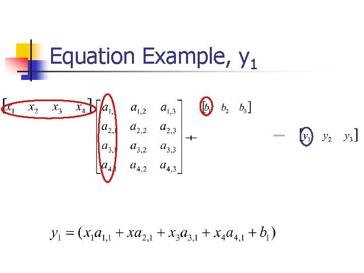 Equation Example, y 1