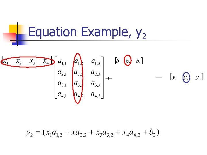Equation Example, y 2