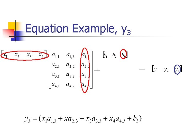 Equation Example, y 3
