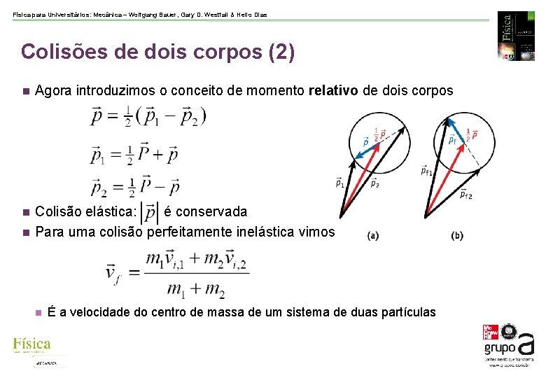 Física para Universitários: Mecânica – Wolfgang Bauer, Gary D. Westfall & Helio Dias Colisões