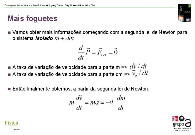 Física para Universitários: Mecânica – Wolfgang Bauer, Gary D. Westfall & Helio Dias Mais