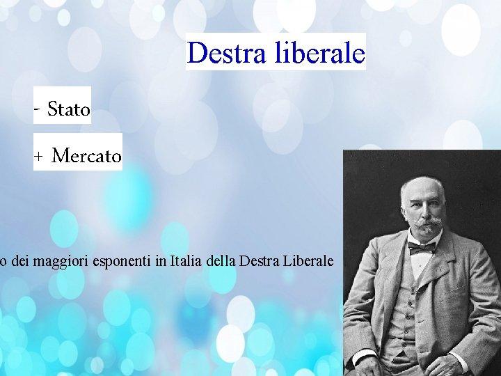 Destra liberale - Stato + Mercato o dei maggiori esponenti in Italia della Destra
