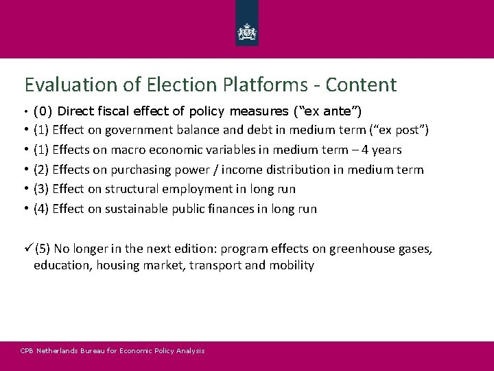 Evaluation of Election Platforms - Content • (0) Direct fiscal effect of policy measures