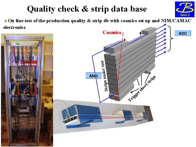 Quality check & strip data base On line test of the production quality &