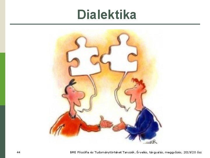 Dialektika 44 BME Filozófia és Tudománytörténet Tanszék, Érvelés, tárgyalás, meggyőzés, 2019/20 ősz