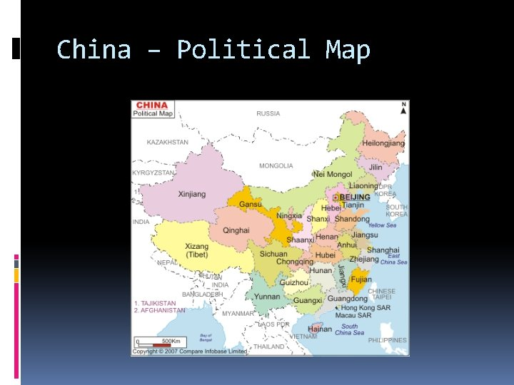 China – Political Map