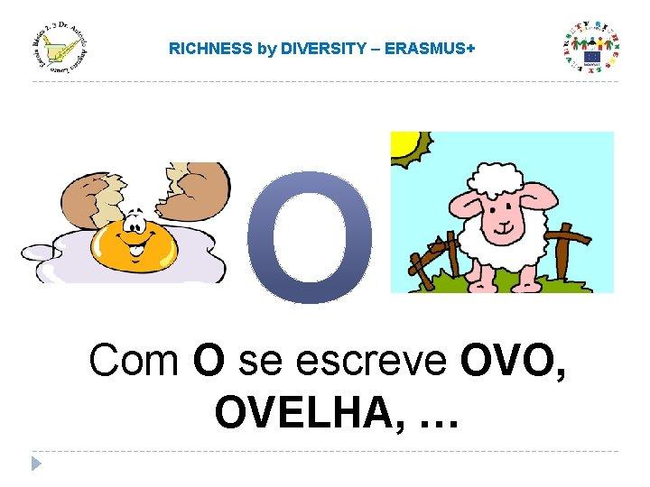 RICHNESS by DIVERSITY – ERASMUS+ Com O se escreve OVO, OVELHA, …