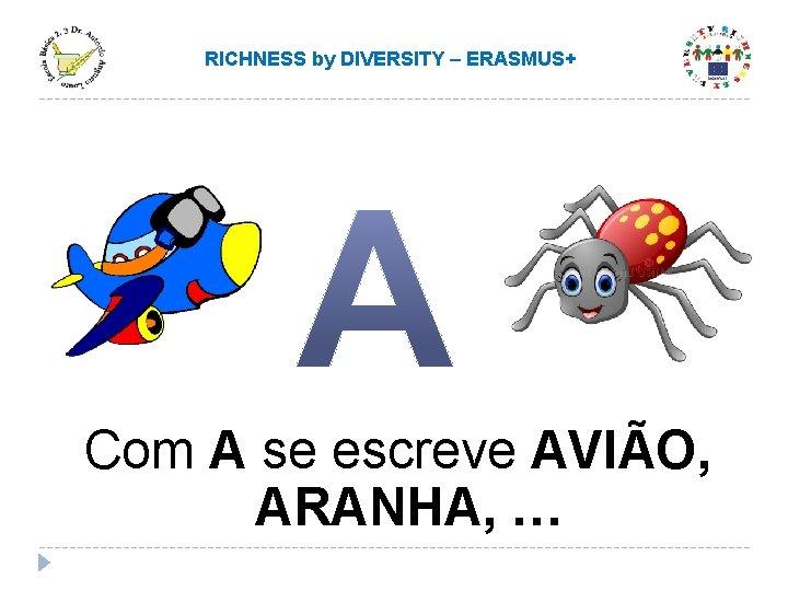 RICHNESS by DIVERSITY – ERASMUS+ Com A se escreve AVIÃO, ARANHA, …