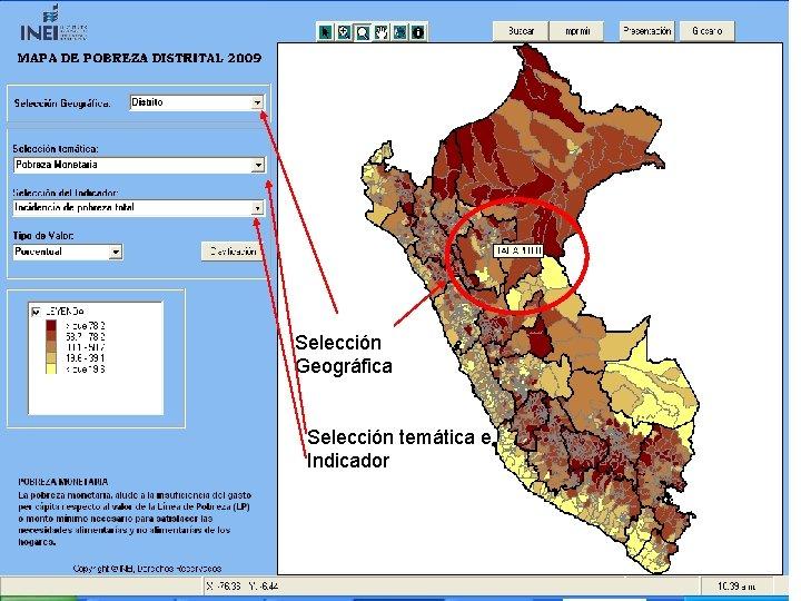 Selección Geográfica Selección temática e Indicador