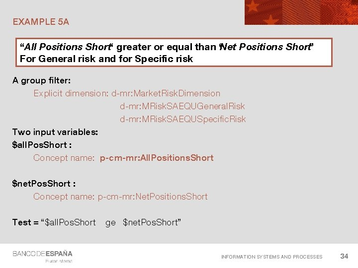 """EXAMPLE 5 A """"All Positions Short"""" greater or equal than """"Net Positions Short"""" For"""