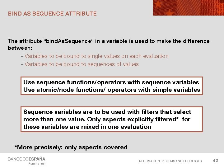 """BIND AS SEQUENCE ATTRIBUTE The attribute """"bind. As. Sequence"""" in a variable is used"""