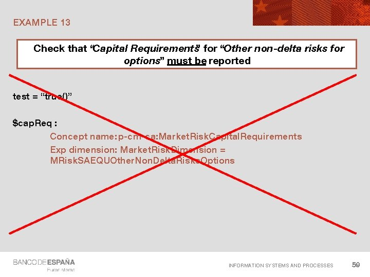 """EXAMPLE 13 Check that """"Capital Requirements"""" for """"Other non-delta risks for options"""" must be"""