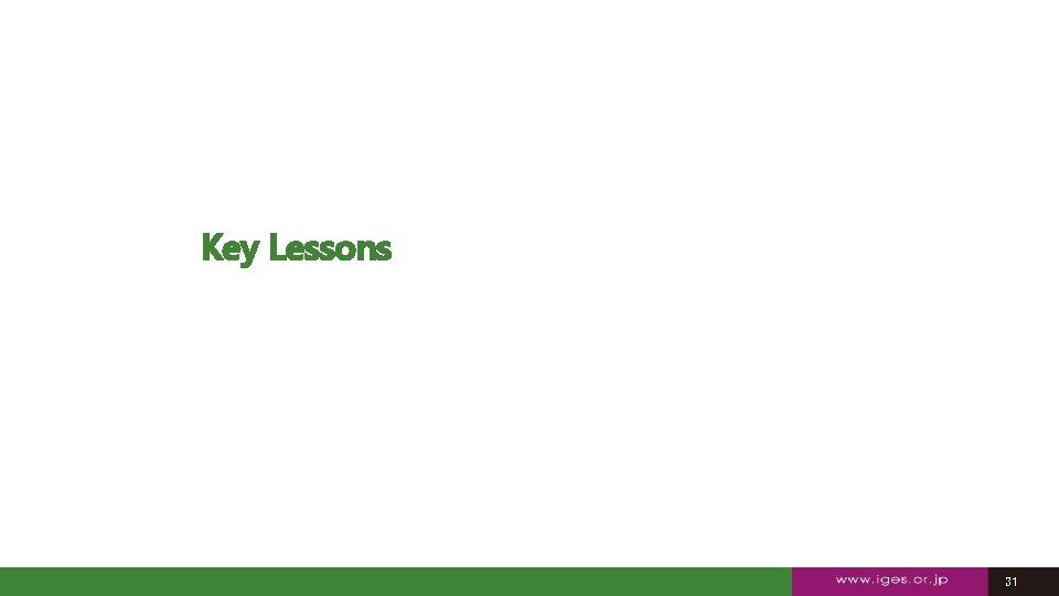 Key Lessons 31 31