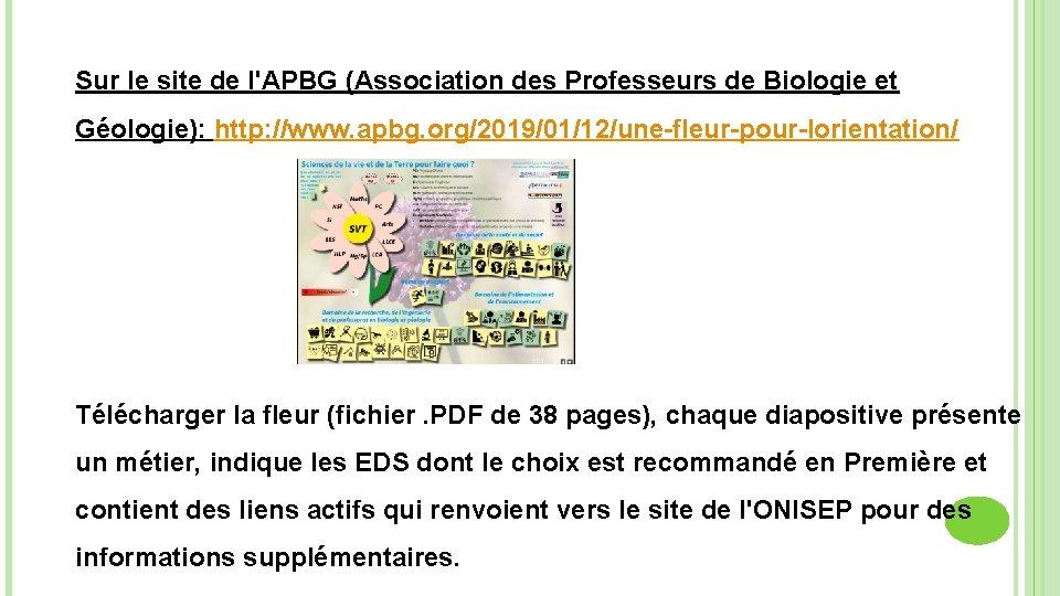 Sur le site de l'APBG (Association des Professeurs de Biologie et Géologie): http: //www.