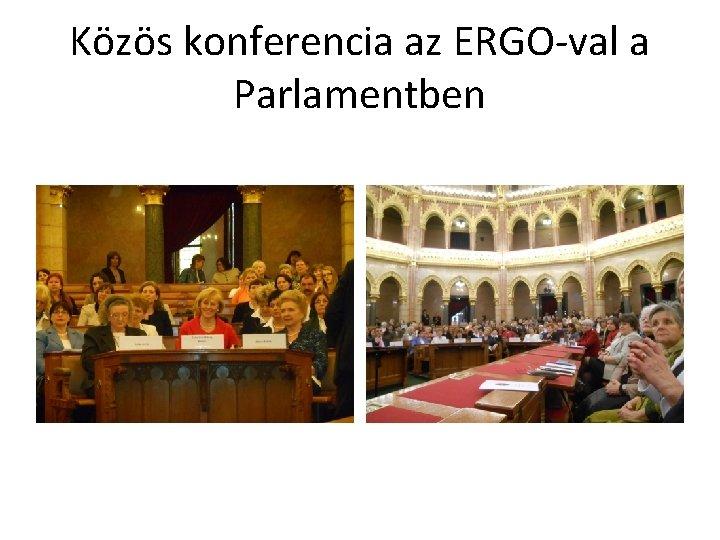 Közös konferencia az ERGO-val a Parlamentben