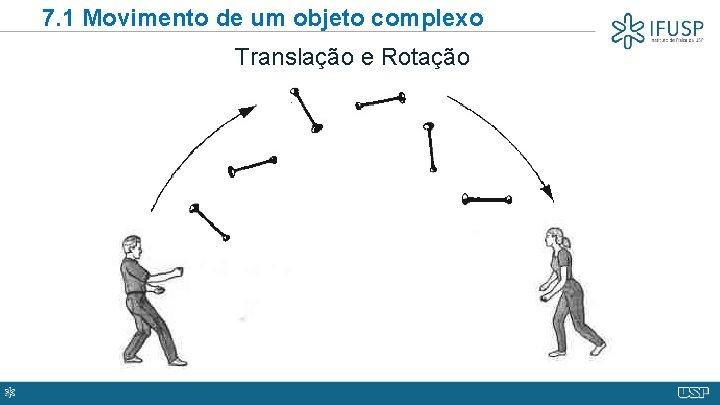 7. 1 Movimento de um objeto complexo Translação e Rotação