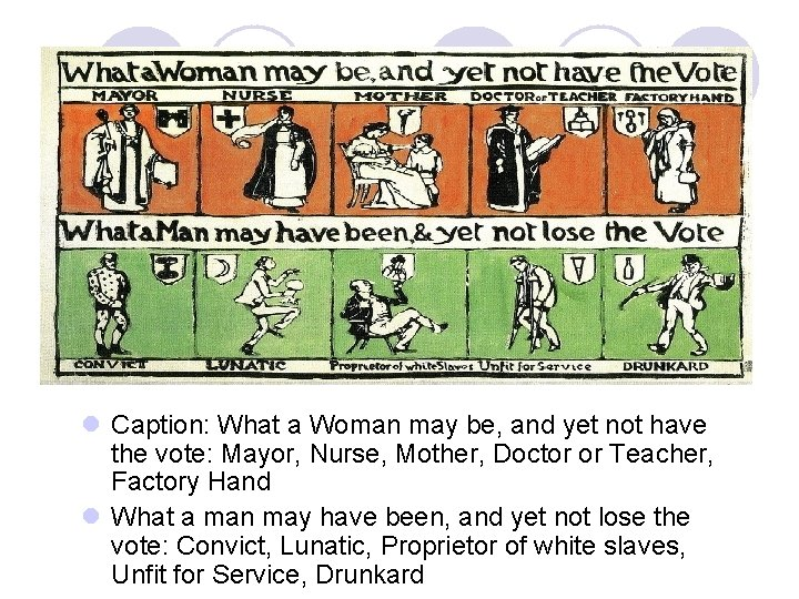 l Caption: What a Woman may be, and yet not have the vote: Mayor,