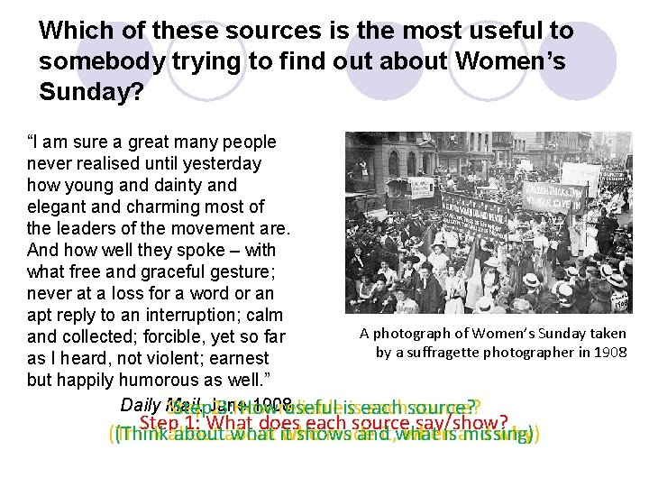 Which of these sources is the most useful to somebody trying to find out