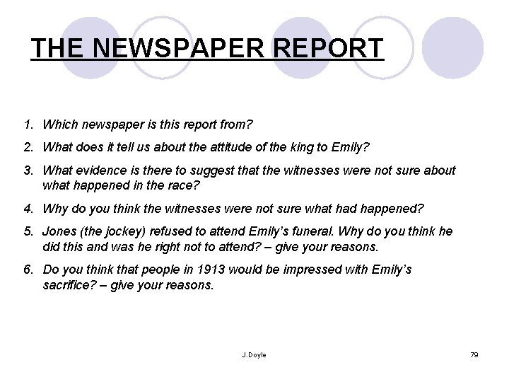 THE NEWSPAPER REPORT 1. Which newspaper is this report from? 2. What does it