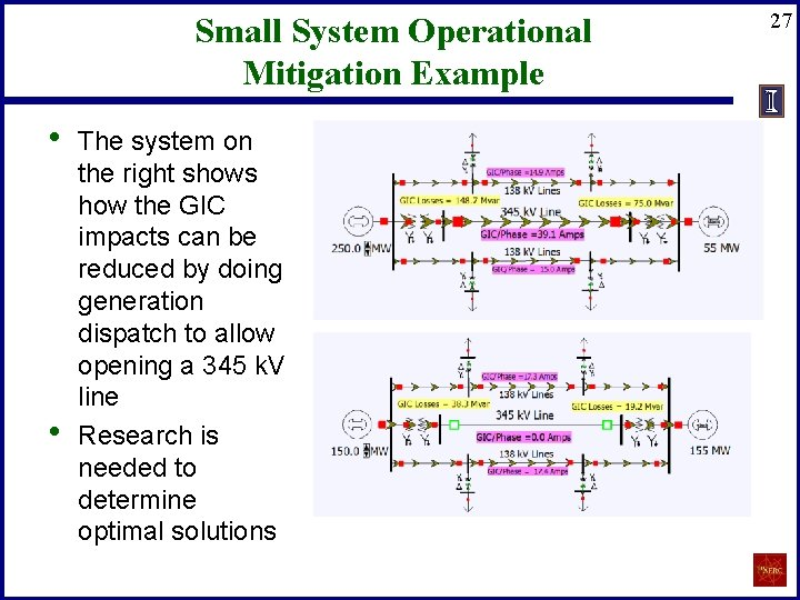 Small System Operational Mitigation Example • • The system on the right shows how