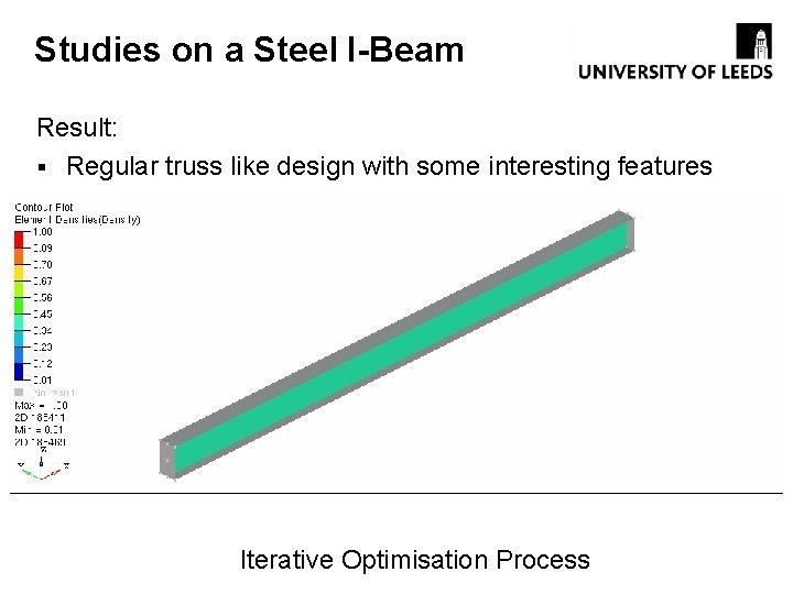 Studies on a Steel I-Beam Result: § Regular truss like design with some interesting