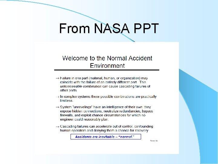 From NASA PPT