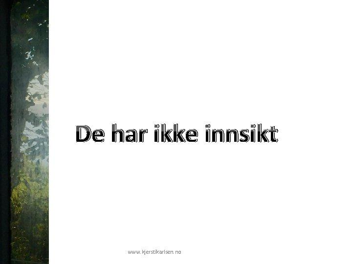 De har ikke innsikt www. kjerstikarlsen. no