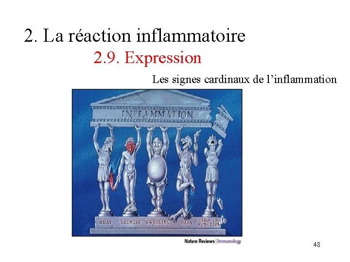 2. La réaction inflammatoire 2. 9. Expression Les signes cardinaux de l'inflammation 48