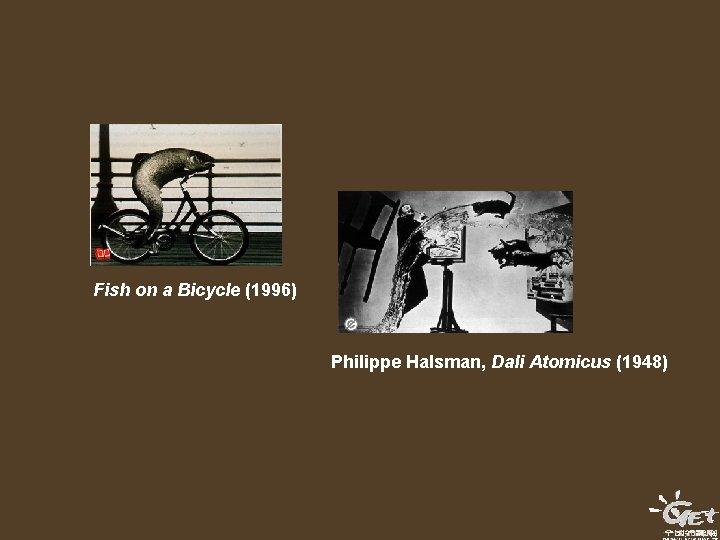 Fish on a Bicycle (1996) Philippe Halsman, Dali Atomicus (1948)