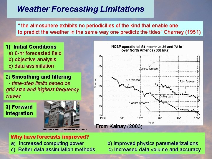 """Weather Forecasting Limitations """" the atmosphere exhibits no periodicities of the kind that enable"""