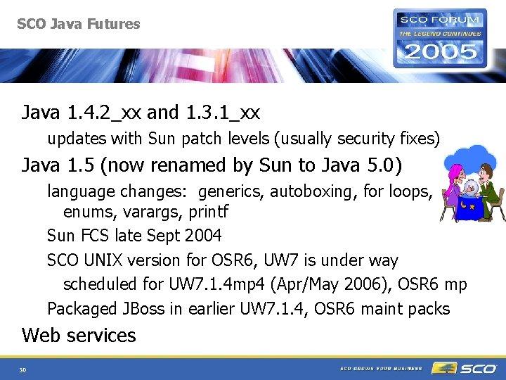 SCO Java Futures Java 1. 4. 2_xx and 1. 3. 1_xx updates with Sun