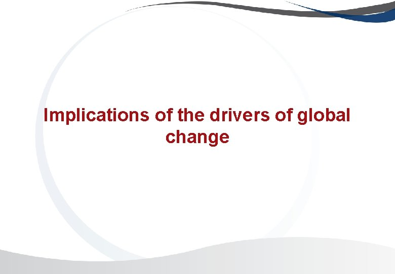 Implications of the drivers of global change