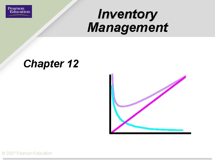 Inventory Management Chapter 12 © 2007 Pearson Education