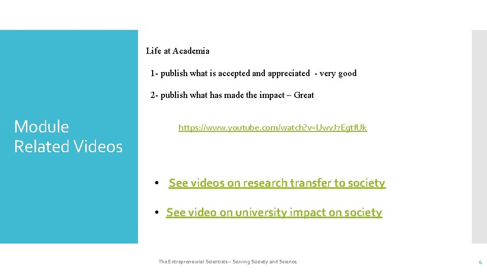 Life at Academia 1 - publish what is accepted and appreciated - very good