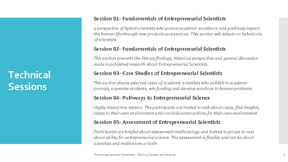 Session 01 - Fundamentals of Entrepreneurial Scientists a perspective of hybrid scientists who pursue