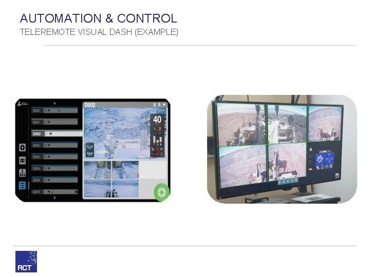 AUTOMATION & CONTROL TELEREMOTE VISUAL DASH (EXAMPLE)