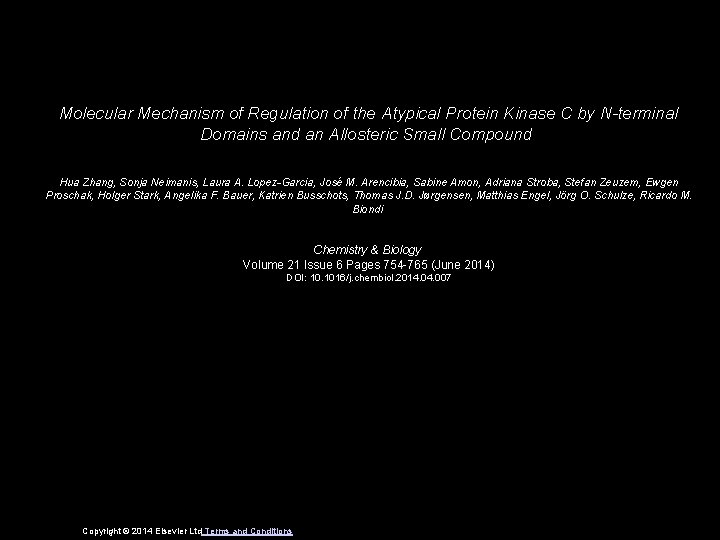 Molecular Mechanism of Regulation of the Atypical Protein Kinase C by N-terminal Domains and