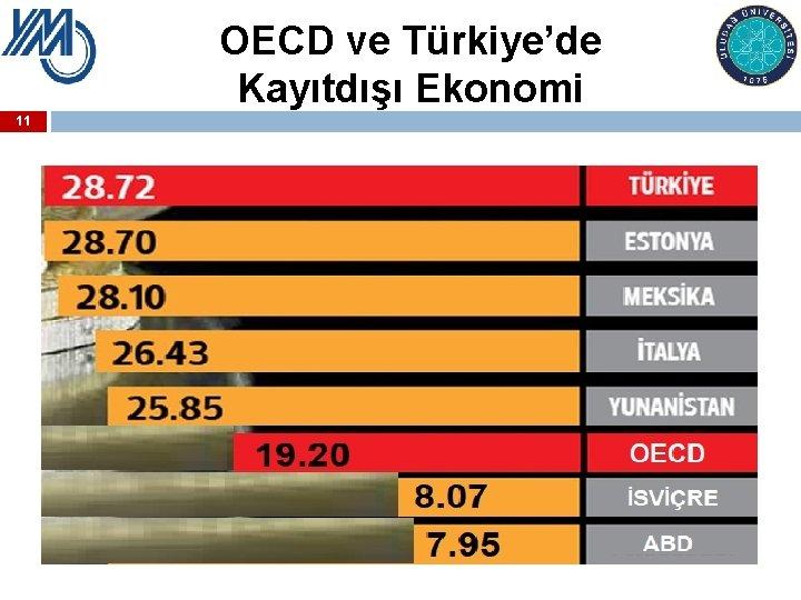 OECD ve Türkiye'de Kayıtdışı Ekonomi 11