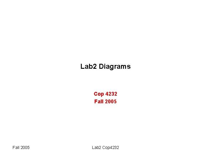 Lab 2 Diagrams Cop 4232 Fall 2005 Lab 2 Cop 4232