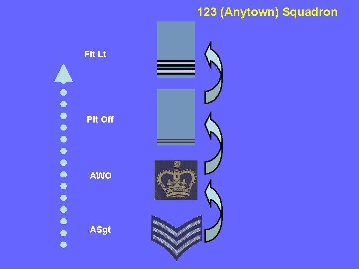 123 (Anytown) Squadron Flt Lt Plt Off AWO ASgt
