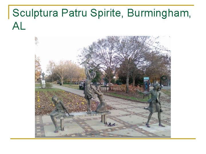 Sculptura Patru Spirite, Burmingham, AL