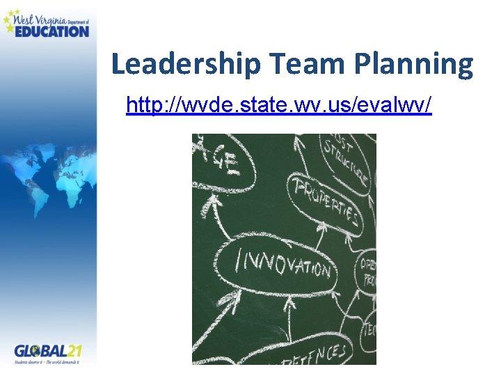 Leadership Team Planning http: //wvde. state. wv. us/evalwv/