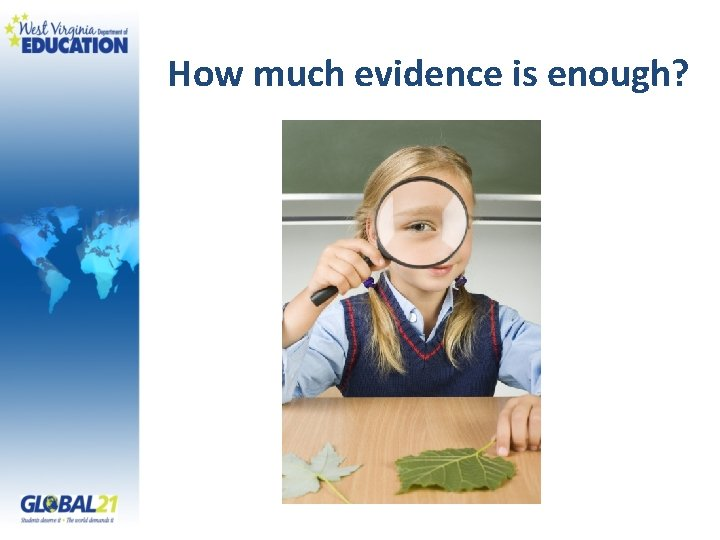 How much evidence is enough?