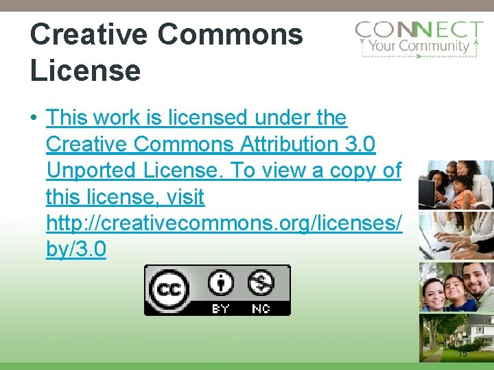 Creative Commons License • This work is licensed under the Creative Commons Attribution 3.