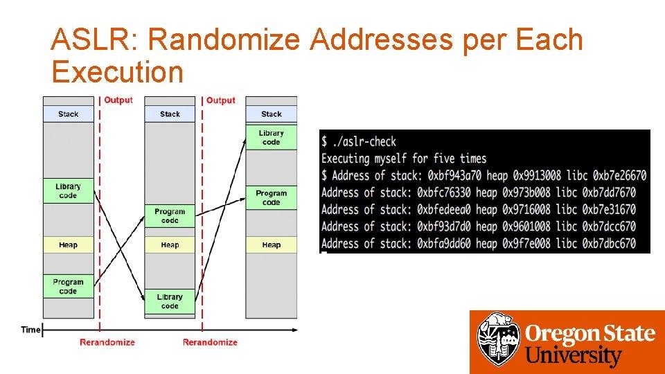 ASLR: Randomize Addresses per Each Execution