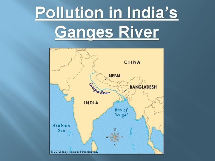 Pollution in India's Ganges River