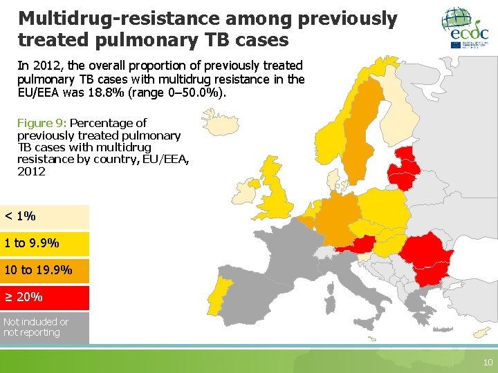 Multidrug-resistance among previously treated pulmonary TB cases In 2012, the overall proportion of previously