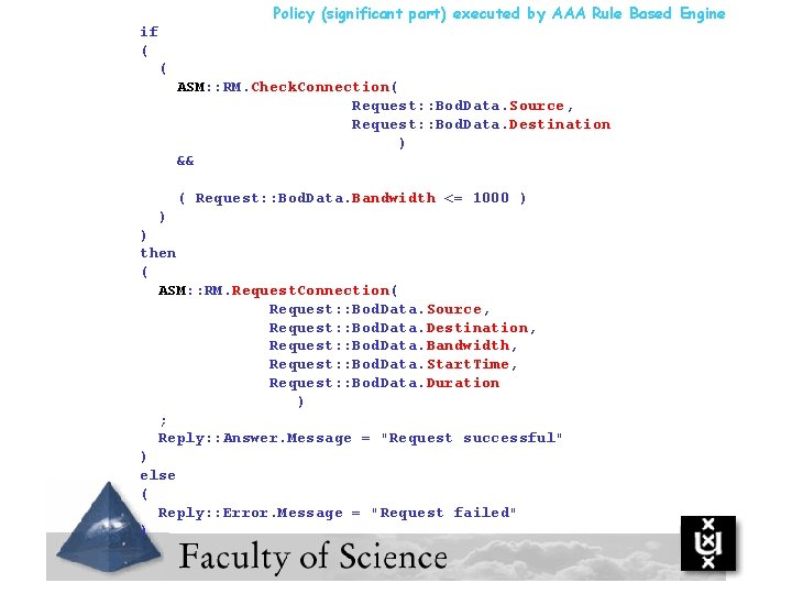 Policy (significant part) executed by AAA Rule Based Engine if ( ( ASM: :