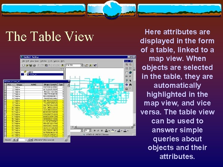 The Table View Here attributes are displayed in the form of a table, linked